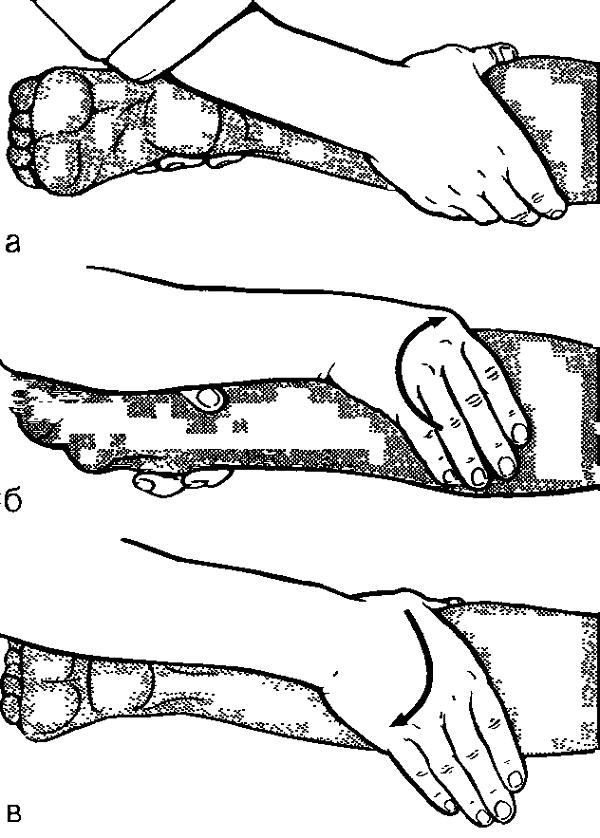 Поперечное разминание одной рукой