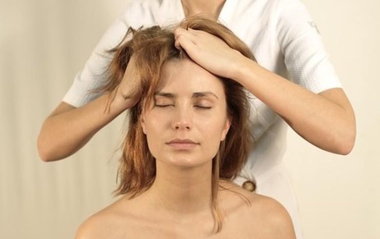 Массаж волосистой части, с обнажением кожи